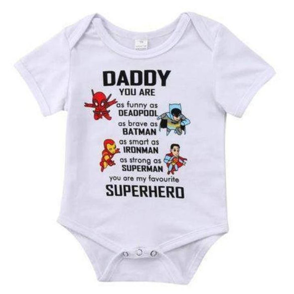 Daddy is a superhero onesie product image - Lavendersun