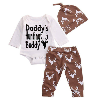 Daddy's Hunting Buddy 3 Piece Set-outfit-Lavendersun