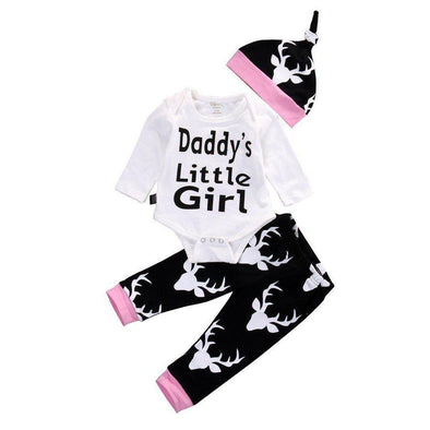 Daddy's Little Girl 3 Piece Set-outfit-Lavendersun