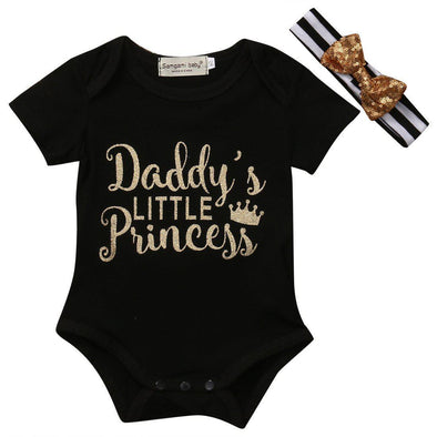 Daddy's Little Princess Onesie-onesie-Lavendersun