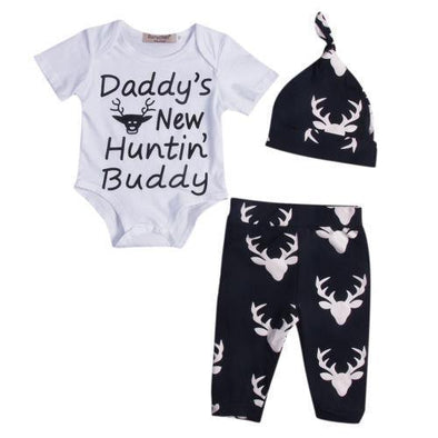 Daddy's New Huntin Buddy 3 Piece Set-outfit-Lavendersun