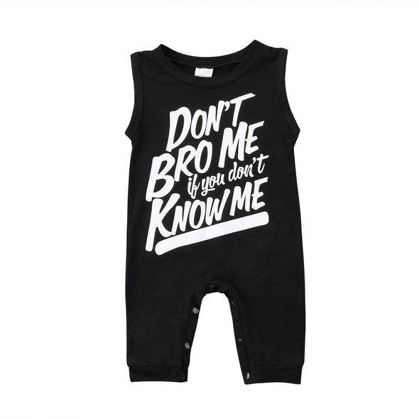 Don't Bro Me If You Don't Know Me Romper-romper-Lavendersun