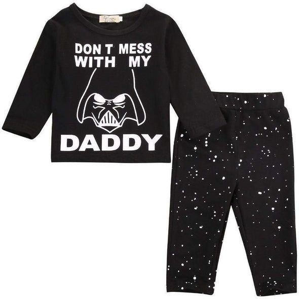 Don't Mess With My Daddy 2 Piece Set-outfit-lavendersun-3-6 months-Lavendersun