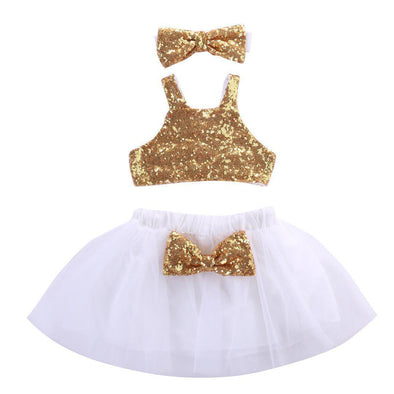 Gold And Sparkly 2 Piece Set-outfit-Lavendersun
