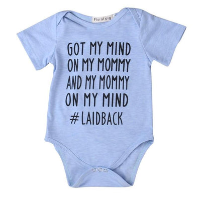 Got my mind on mommy onesie-onesie-Lavendersun