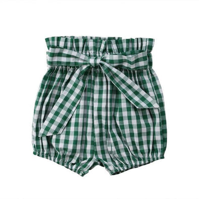 Grass Green Bow Short-pant-Lavendersun
