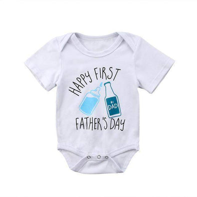Happy First Farther's Day Dad Onesie-onesie-Lavendersun