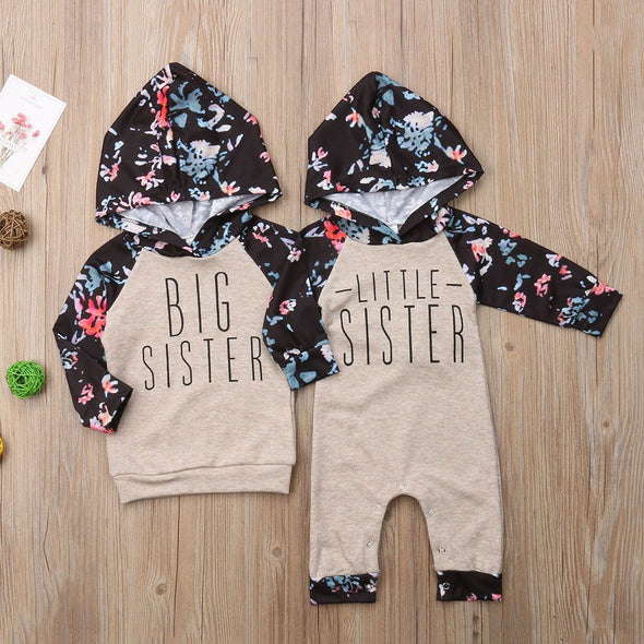 Hip Big And Little Sister-romper-Lavendersun