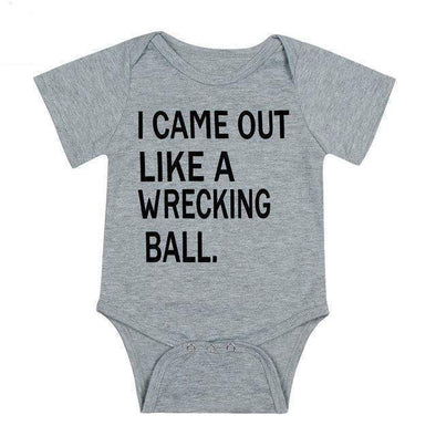 I Came Out A Wrecking Ball Onesie-onesie-Lavendersun