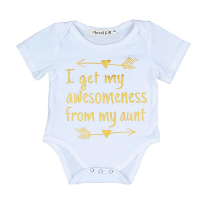 I Get My Awesomeness From My Aunt Onesie-onesie-Lavendersun