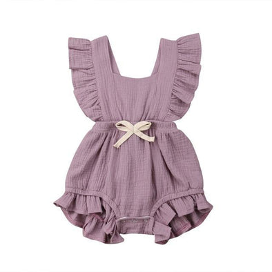 Light Purple Angelic Romper-romper-Lavendersun
