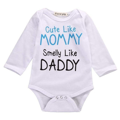 Like Mommy Smelly Like Daddy Onesie-onesie-Lavendersun