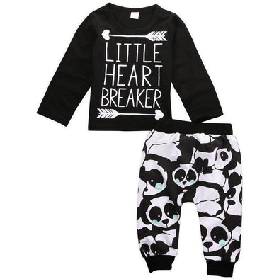 Little Heart Breake 2 Piece Set-outfit-Lavendersun
