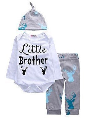 Little Hunter Brother 3 Piece Set-outfit-Lavendersun