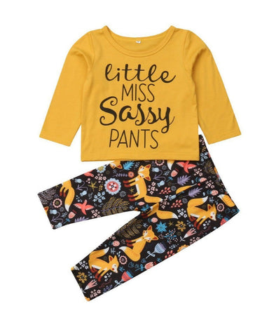 Little Miss Sassy Pants 2 Piece Set-outfit-Lavendersun