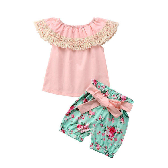 Lovely roses 2 piece set-outfit-Lavendersun