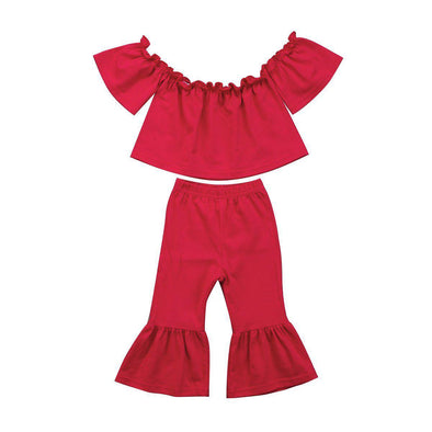 Madam Red 2 Piece Set-outfit-Lavendersun