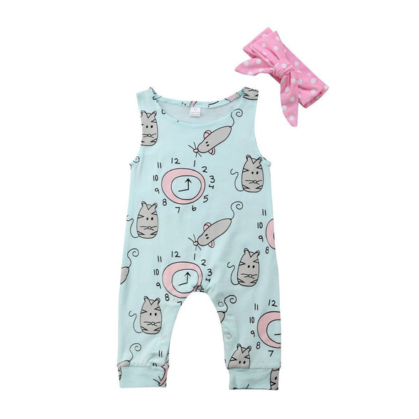 Meow time romper product image - Lavendersun