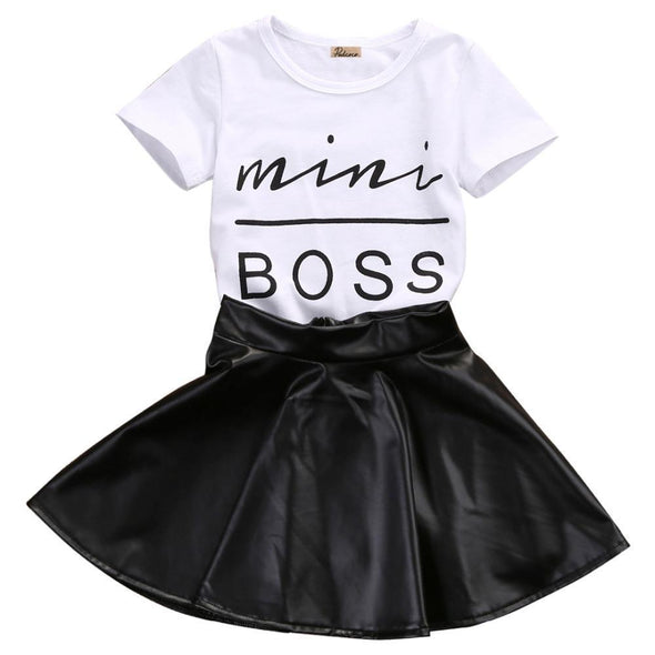 Mini Boss Skirt 2 Piece Set-outfit-Lavendersun