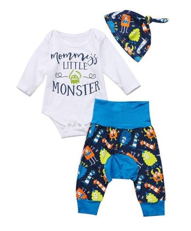 Mommy's Little Monster 3 Piece Set-outfit-Lavendersun