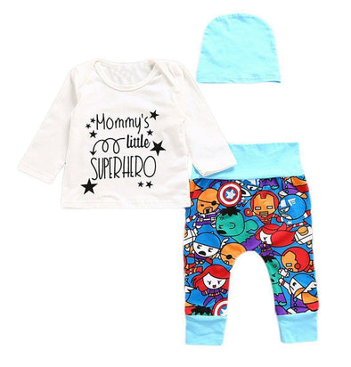 Mommy's Little Superhero 3 Piece Set-outfit-Lavendersun