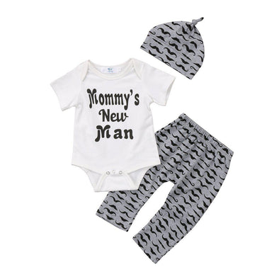 Mommy's new man 3 piece set-outfit-Lavendersun
