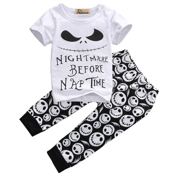 Nightmare before nap time 2 piece set-outfit-Lavendersun