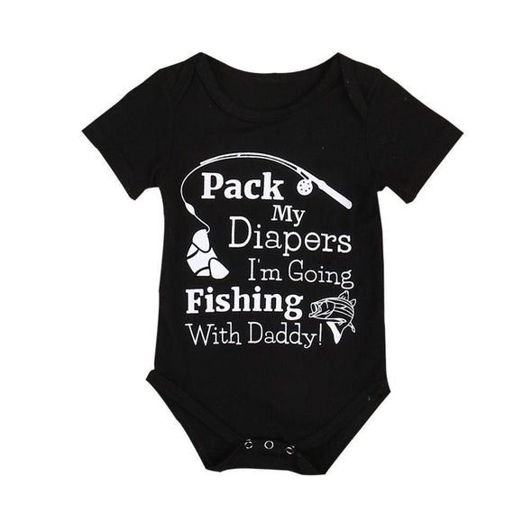 Pack My Diapers I'm Going Fishing With Daddy Onesie-onesie-Lavendersun