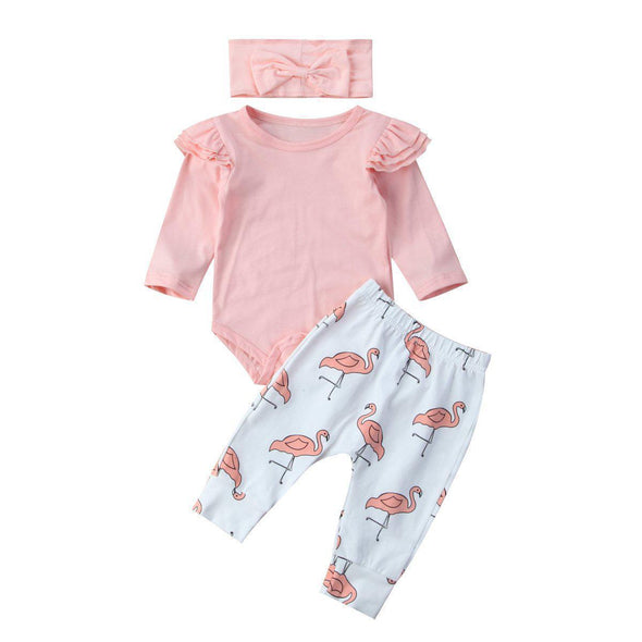 Pink Flamingo Girl Set-outfit-Lavendersun