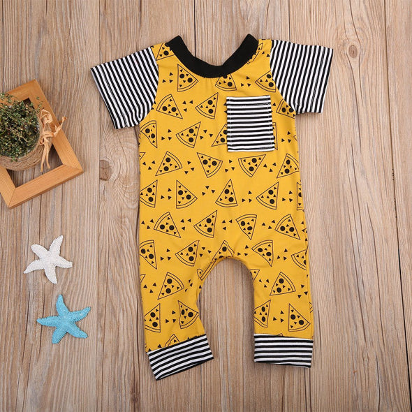 Pizza Tuesday Romper-romper-Lavendersun