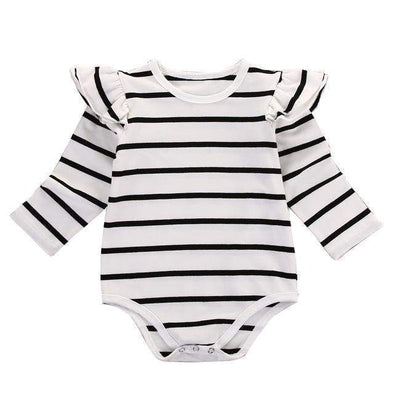 Plain striped onesie-onesie-Lavendersun