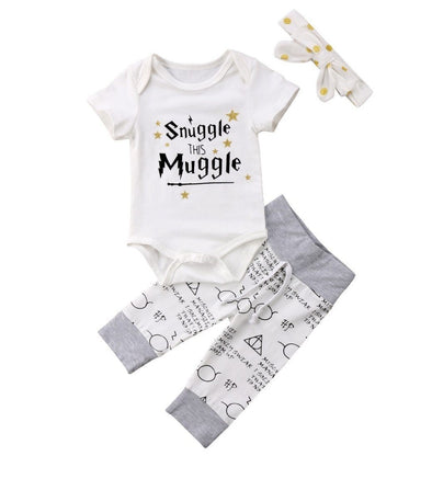 Polka Snuggle This Muggle 3 Piece Set-outfit-Lavendersun