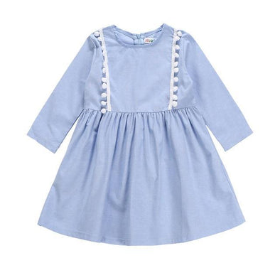 Pomp Light Blue Dress-dress-Lavendersun