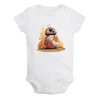 White BB-8 action onesie