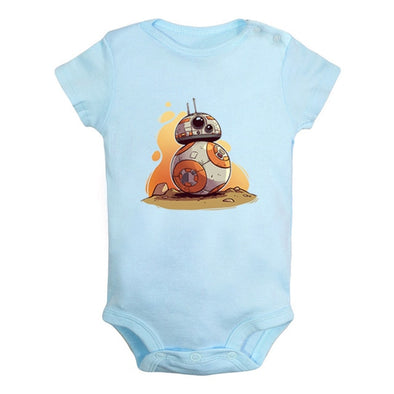 Blue BB-8 starwars onesie