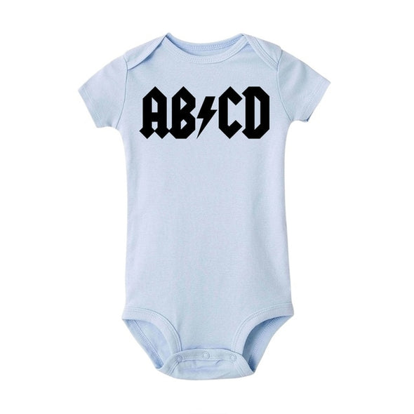 ABCD punk rock onesie