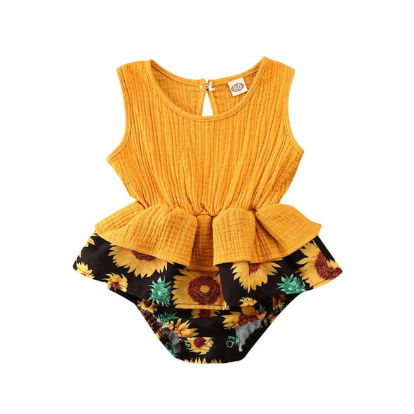 Sunflower orange fall outfit