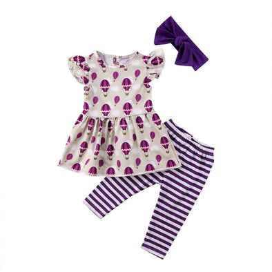 Purple Air Balloon 3 Piece Set-outfit-Lavendersun