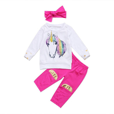 Rainbow Unicorn 2 Piece Set-outfit-Lavendersun