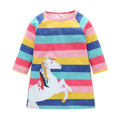 Rainbow Unicorn Dress-dress-Lavendersun