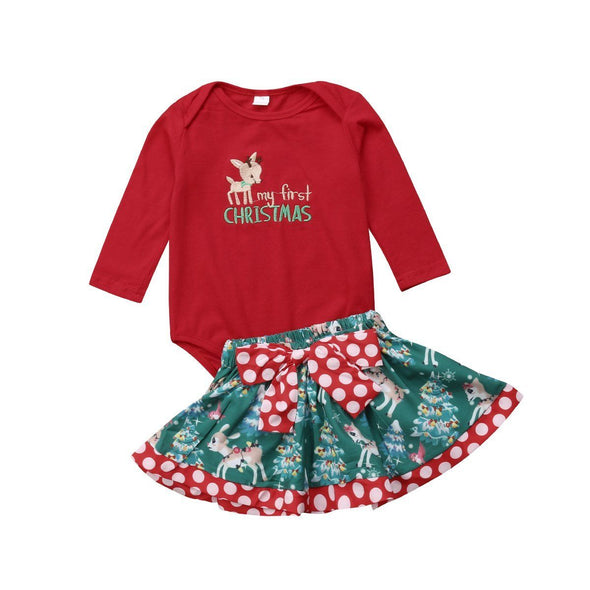 Reindeer First Christmas 2 Piece Set-outfit-Lavendersun