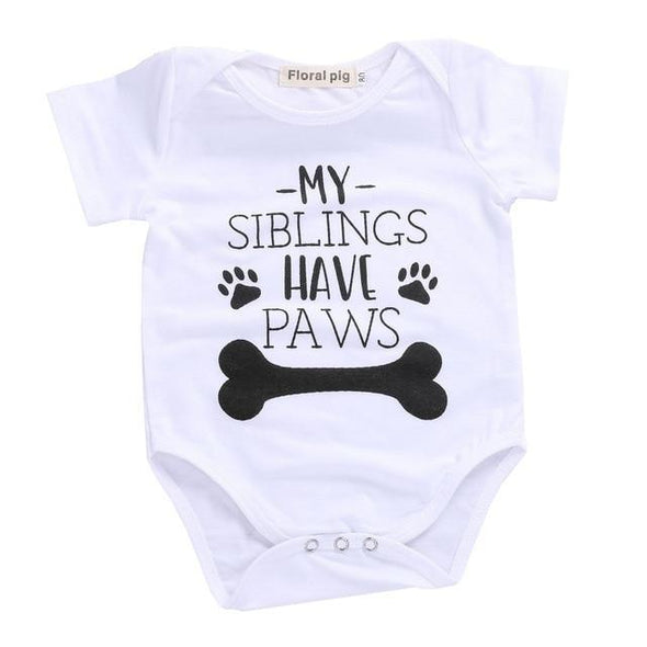 Siblings Have Paws Onesie-onesie-Lavendersun