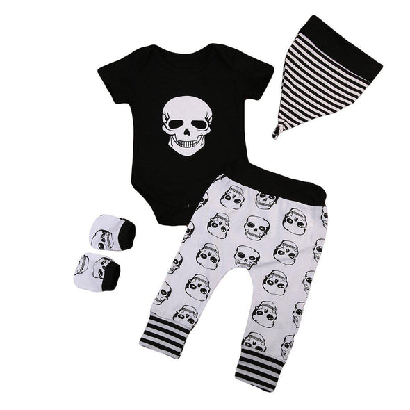 Skull child 4 piece set-outfit-Lavendersun