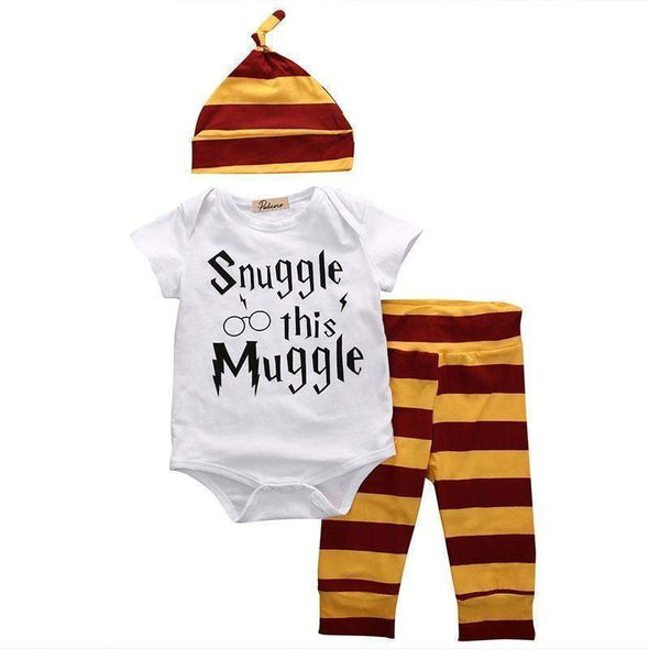 Snuggle this Muggle Harry Potter 3 piece set-outfit-Lavendersun