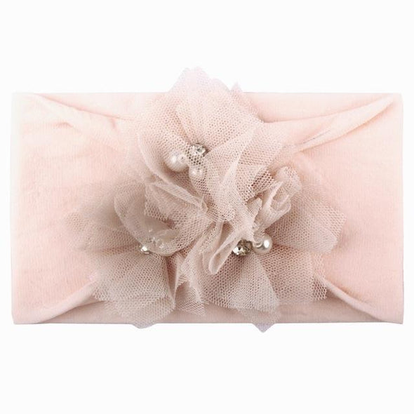 Solid Flower Baby Hair Band-headbands-Lavendersun