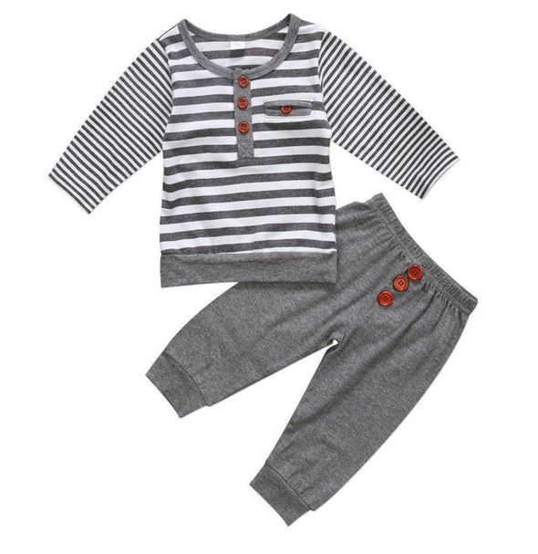 Striped button outfit product image - Lavendersun