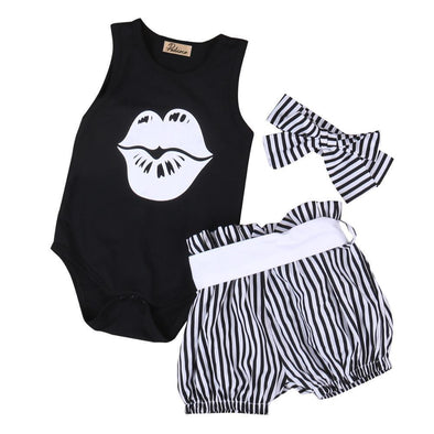 Stripey Lips 3 Piece Set-outfit-Lavendersun