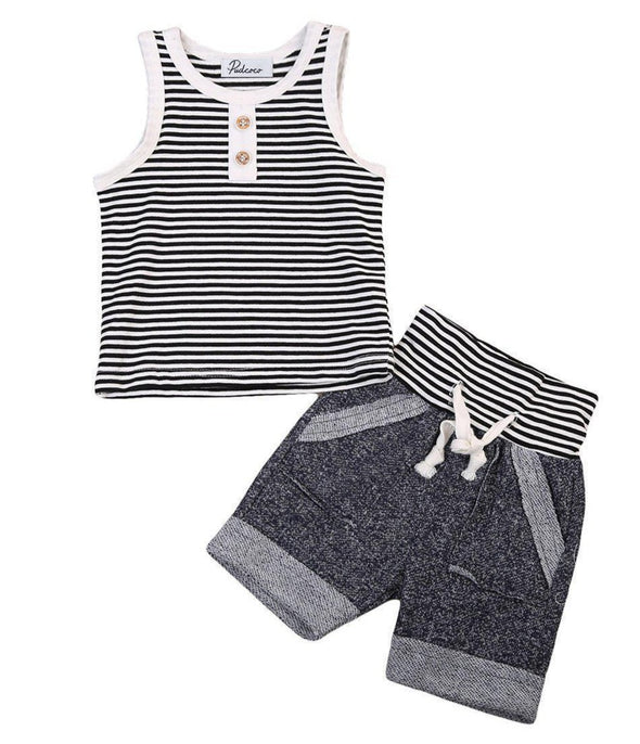 Stripey Tuesday 2 Piece Set-outfit-Lavendersun