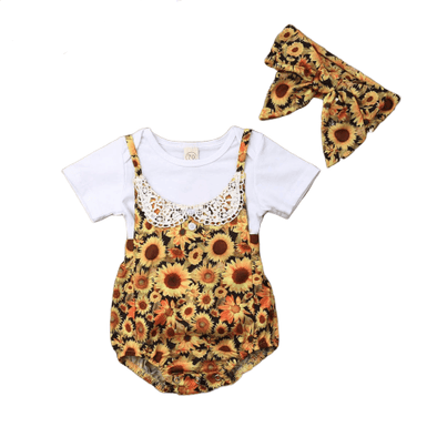 Sunflower Blossom Baby Outfit