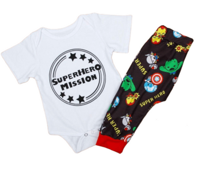 Superhero Mission Baby Outfit